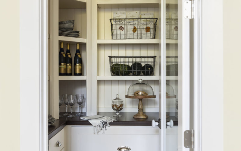 Walk-in kitchen pantry